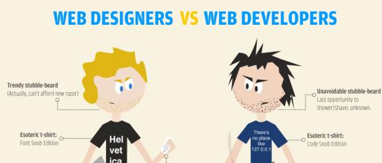 ما هو الفرق بين المصمم والمطور