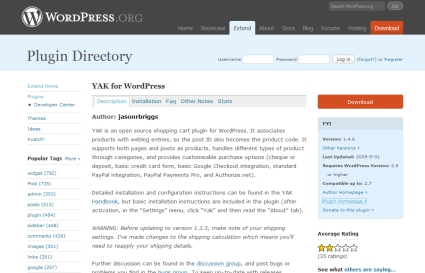 Yak wordpress plugin